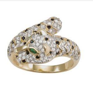 Gold Panther Ring